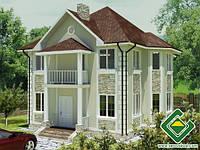 Строительство дома из сип панелей 154,82 м.кв., «МИНИ АЛЬЯНС»