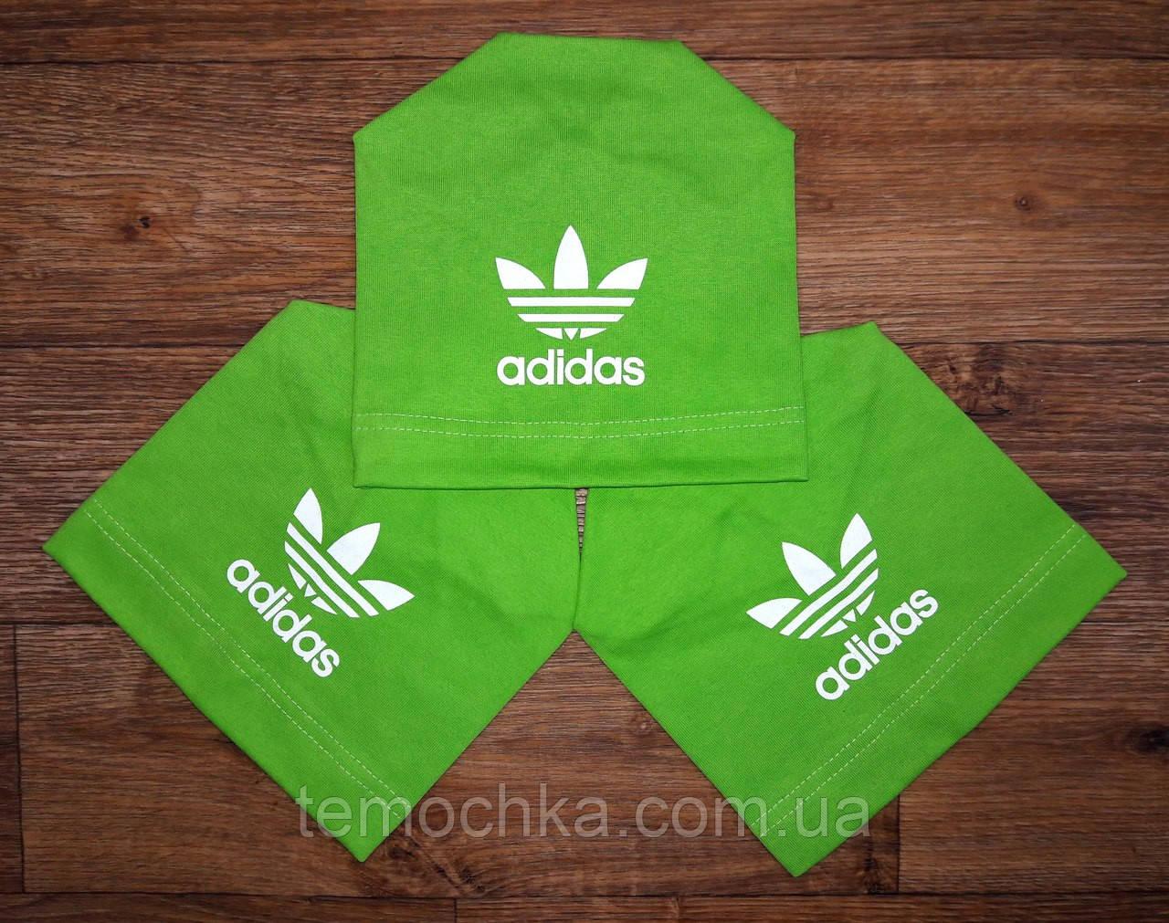 Шапка шапочка салатовая спортивная детская для мальчика или девочки Адидас Adidas