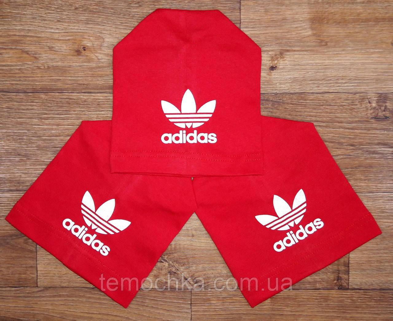 Шапка червона шапочка спортивна дитяча для хлопчика або дівчинки Адідас