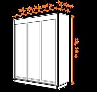 Трехдверные шкафы-купе
