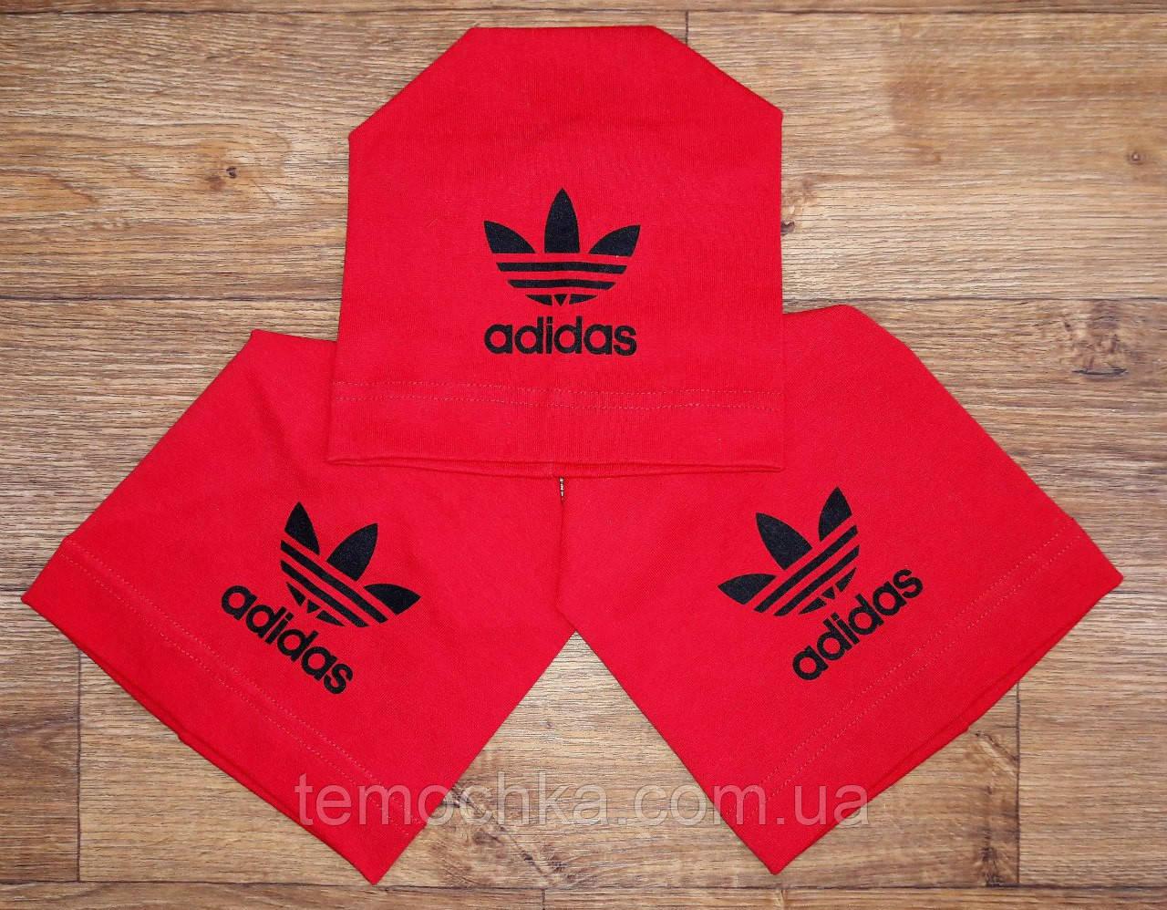 Шапка шапочка красная спортивная детская для мальчика или девочки Адидас Adidas