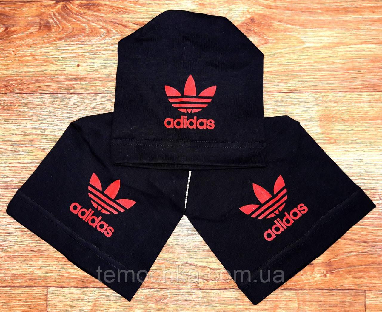 Шапка шапочка черная спортивная детская для мальчика или девочки Адидас Adidas