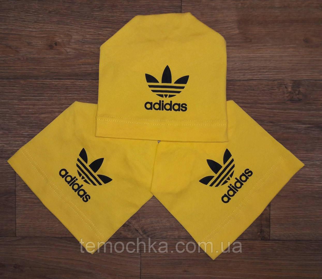 Шапка шапочка желтая спортивная детская для мальчика или девочки Адидас Adidas