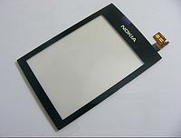 Оригинальный тачскрин / сенсор (сенсорное стекло) для Nokia Asha 300 (черный цвет) + СКОТЧ В ПОДАРОК