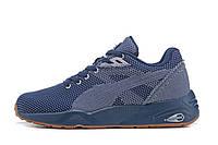 Мужские кроссовки Puma Trinomic R698 Knit Mesh v2 Peacoat (пума, оригинал) синие