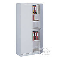 Шкаф архивный двустворчатый c двухкамерным тайником 2000(h)x1200x435 мм