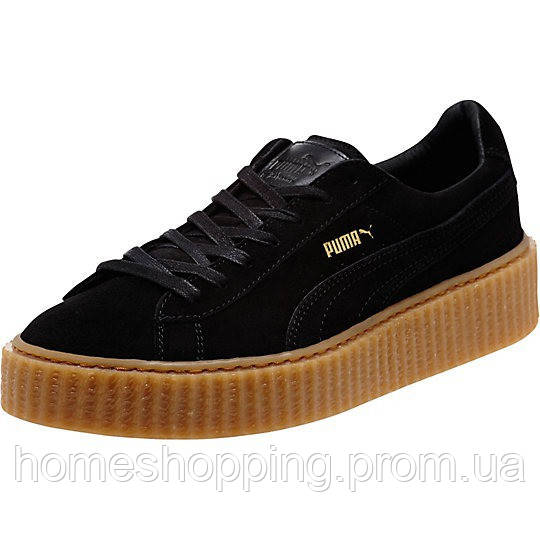 Мужские кроссовки Rihanna x Puma Suede Creeper men's BlackOatmeal, фото 1