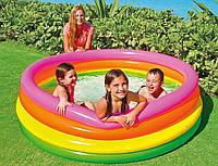"""Детский надувной бассейн """"Большая радуга"""" Intex 56441,168х46см"""