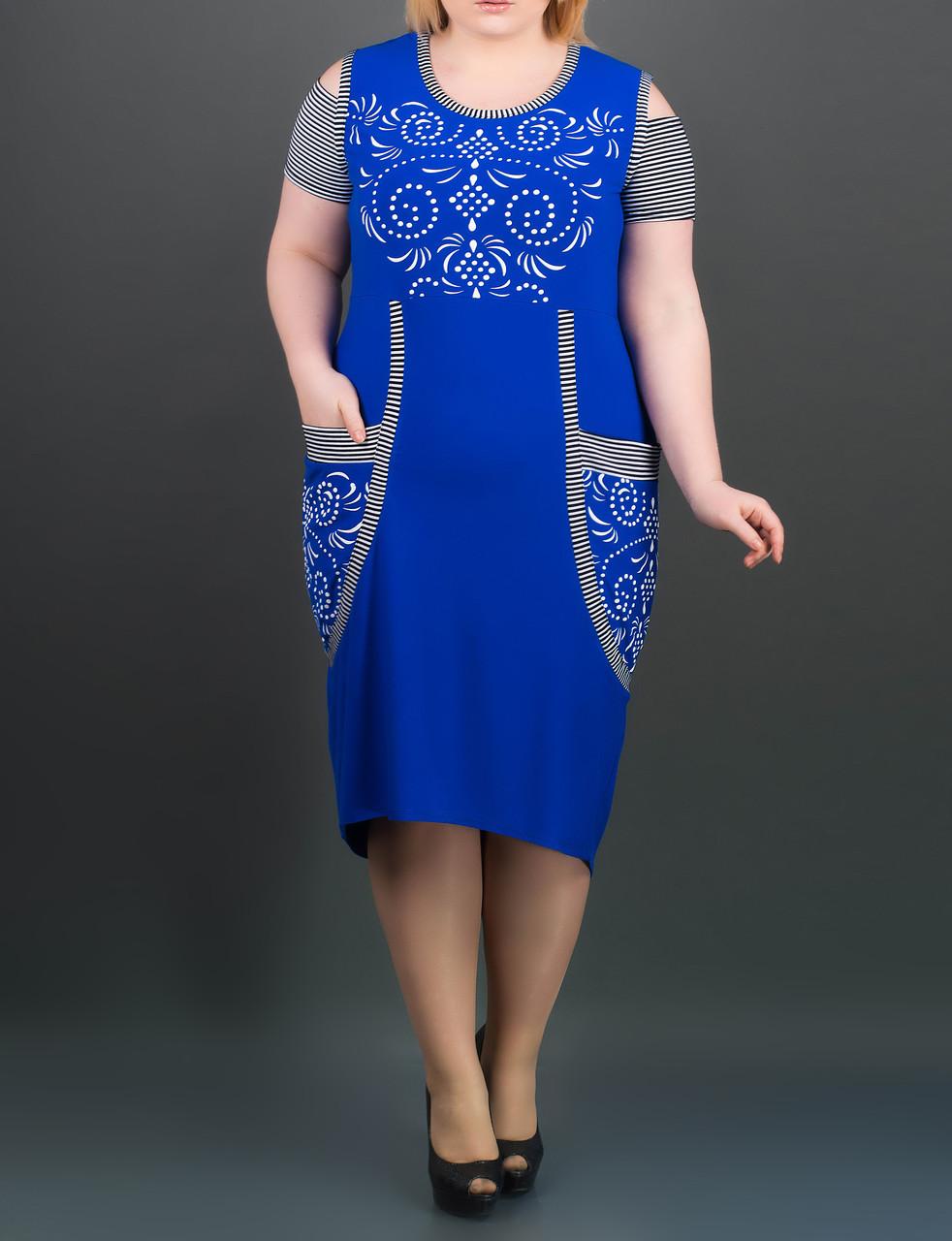 Летнее платье 64 размера