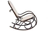 Кресло-качалка ореховое (ткань)