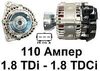 Генератор Ford Connect 1.8 TDi (02-06). Форд Коннект. 110 Ампер. Новый. A9012 - AS Poland.