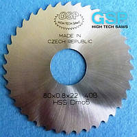 Фрезы дисковые пазовые для металла GSP DIN 1838 B 100x1,0x22 Z=64 B HSS/DMo5 крупный зуб