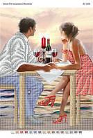 """Схема для частичной вышивки бисером """"Влюбленная пара"""""""