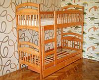 Двухъярусная кровать Карина (Арина) с ящиками и двумя ортопедическими матрасами