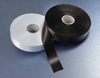 Сатин чёрный 25ммх200м (премиум) для термотрансферной печати