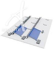 Комплект системы крепления балластной конструкции * (без балласта) 20 модулей (цинк/цинк)