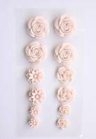 Цветочки объемные, клеевые, Нежно-розовые