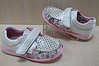 Белые туфли мокасины на девочку тм Y.Top р.21