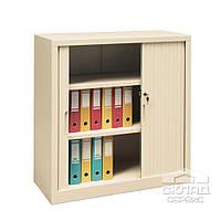 Шкаф архивный с роллетными дверями для документов (Sb 105) 1040(h)x1000x435 мм