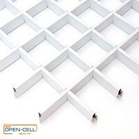 Потолок Грильято 50х50х40 белый Open-cell