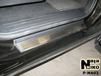 Накладки на пороги Premium Mazda CX-9 2007-