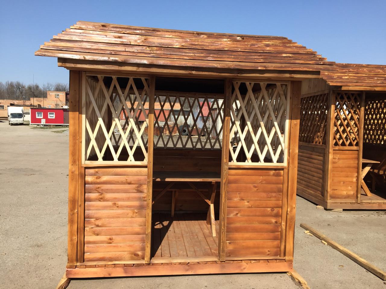 Строительство беседки деревянной  2,0х2,4х2,8 м