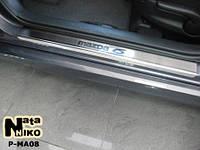 Накладки на пороги Premium Mazda 6 II FL 2010-