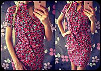 Яркое коттоновое платье 908