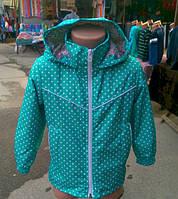 """Весенняя легкая курточка для девочек """"Горошек"""""""
