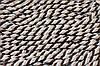 Канат декоративный 10мм (50м) коричневый+белый+беж