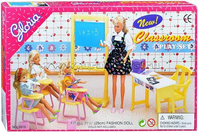 Набор мебели для кукол Школа Gloria Classroom