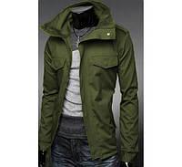 Стильная мужская куртка (каттон) олива