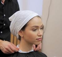 Воротнички парикмахерские одноразовые 5 шт. в уп. Пластиковая втулка