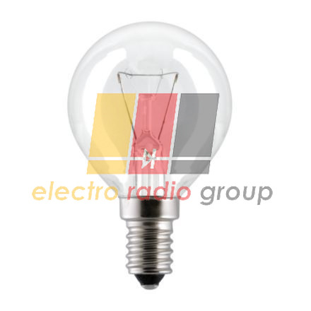 Лампа сферична 25D1/CL/E14 230V прозора GE Угорщина