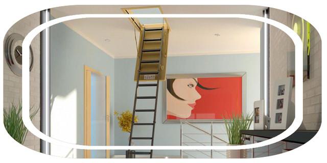 лесница чердачная | чердачные лестницы с люком | лестница складная
