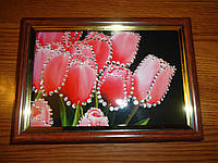 Картина из страз Тюльпаны 15х20 см