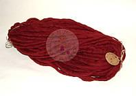 Толстая пряжа ручного прядения №7 Марсала