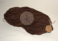 Толстая пряжа ручного прядения №9 Шоколад
