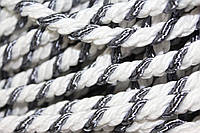 Канат декоративный 10мм (50м) белый+серый  (т), фото 1