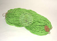 Толстая пряжа ручного прядения №15 Оливка