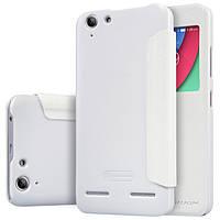 Кожаный чехол Nillkin Sparkle для Lenovo Vibe K5 Plus белый