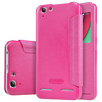 Кожаный чехол Nillkin Sparkle для Lenovo Vibe K5 Plus розовый