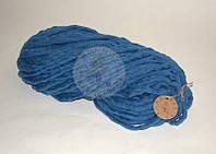 Толстая пряжа ручного прядения №22 Джинс