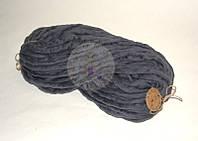 Толстая пряжа ручного прядения №28 Сталь