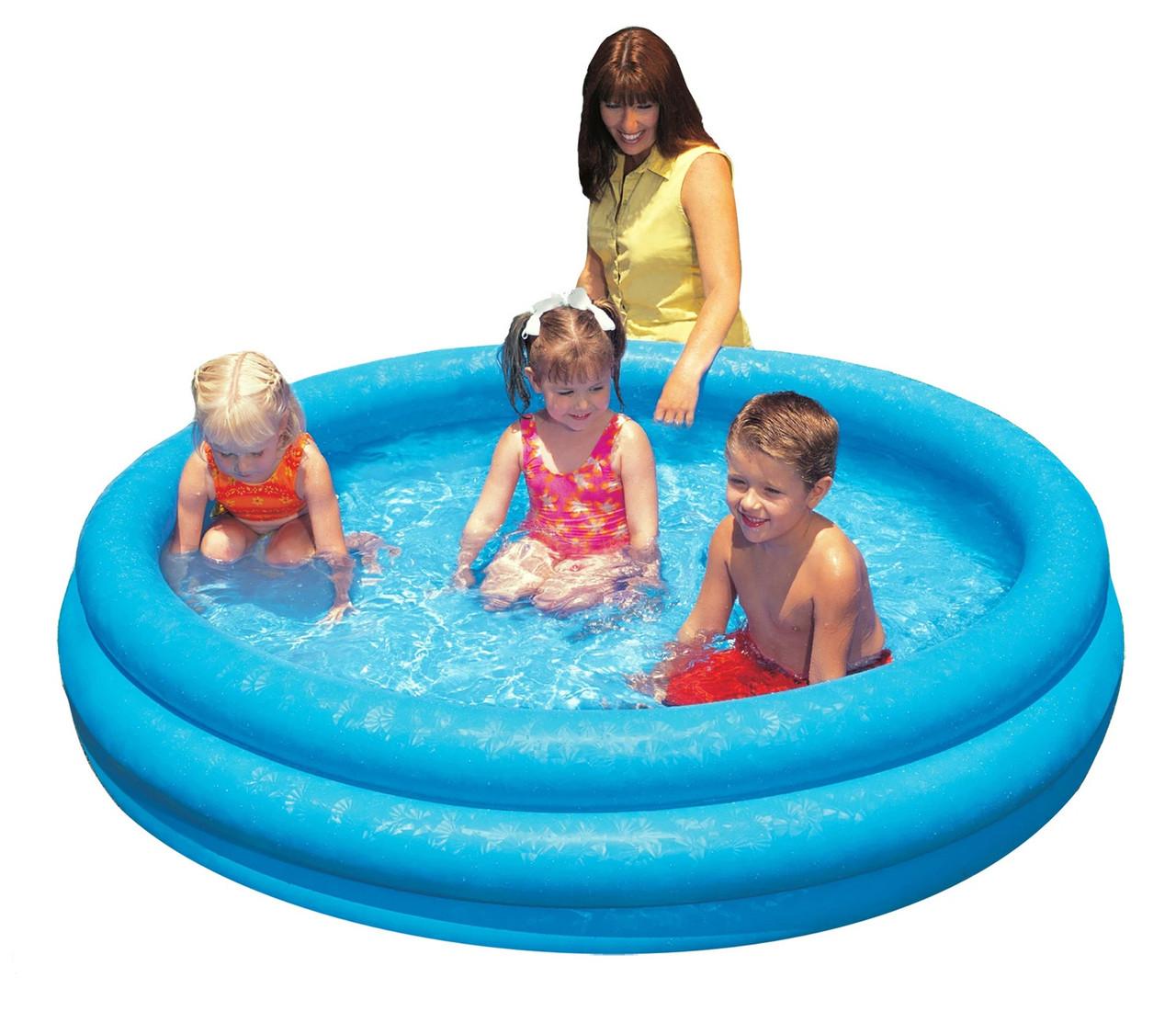 """Детский надувной бассейн """"Голубая лагуна"""" Intex 58446,168х40см"""