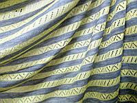 Трикотаж Ажурная морячка (св. серый меланж, лимон) (арт. 2234)