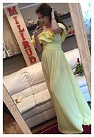 Женское шикарное платье в пол желтое ММ-66
