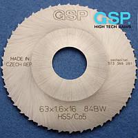 Пилы для орбитальной резки металлических труб GSP 63x1,6x16 Z=64 BW HSS/DMo5