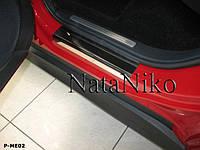 Накладки на пороги Premium Mercedes B (w245) 2005-