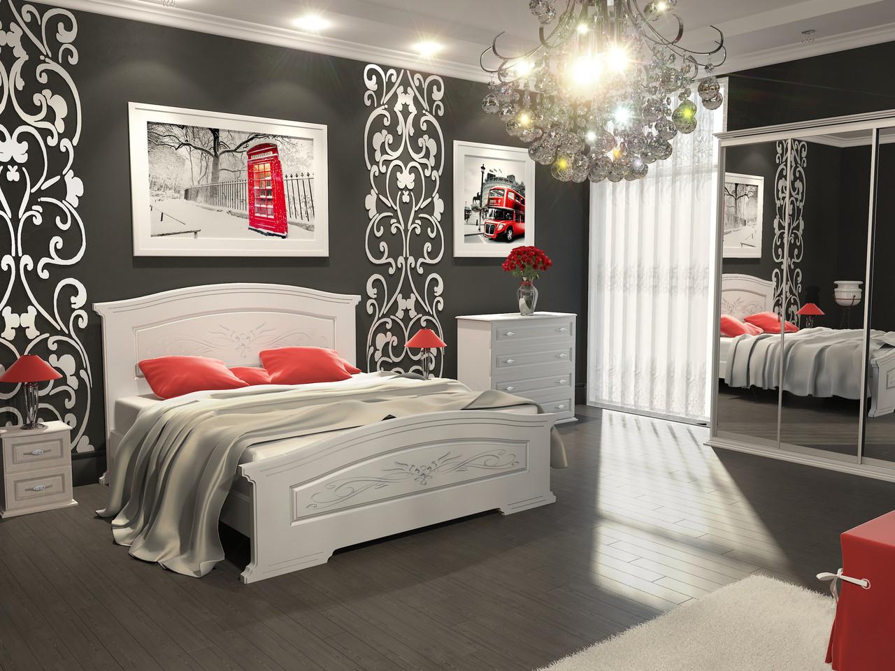 Кровать Инесса (1,80 м.) (белый супер мат)